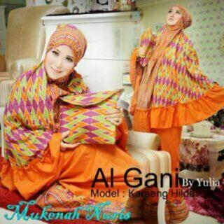 Mukena Al Gani Nuris Orange
