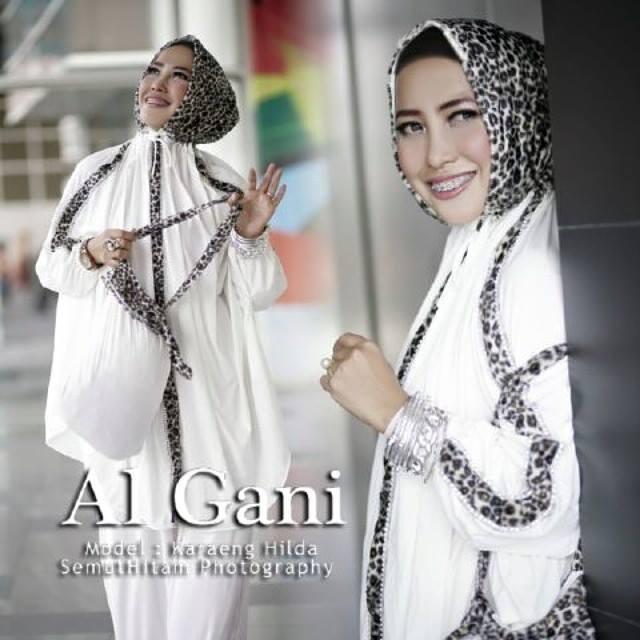 Mukena Al Gani Leopard Putih