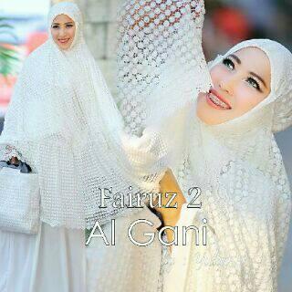 Mukena Al Gani Fairuz Broken White