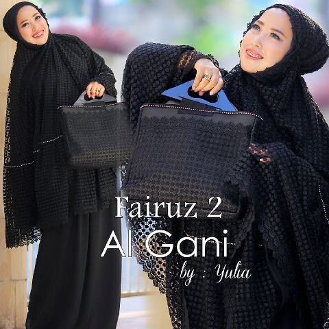 Mukena Al Gani Fairuz Hitam