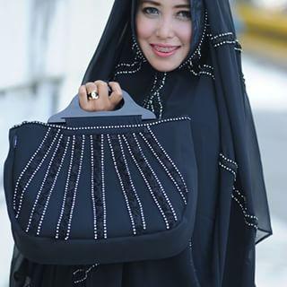 Mukena Al Gani Fatima Hitam
