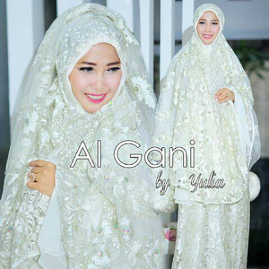 Mukena cantik warna putih | Mukena Al Gani