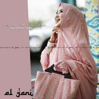 Mukena Al Gani Fatima Pink