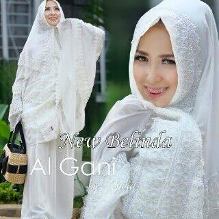 Mukena Cantik Putih Model Terbaru. Mukena cantik putih | Mukena Al Gani