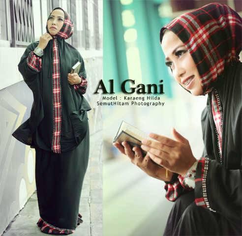 Mukena Al Gani Blueberry Hitam